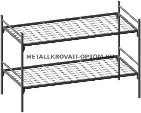 Металлические двухъярусные кровати купить оптом для рабочих, строителей, бытовок, общежитий и пр.