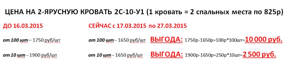 Акция кровать 2С-10-У1